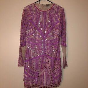 ASOS rare mirror/jeweled dress